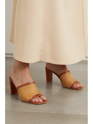 Malone Souliers demi raffia and leather mules