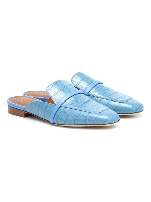 Malone Souliers jada croc-effect leather slippers