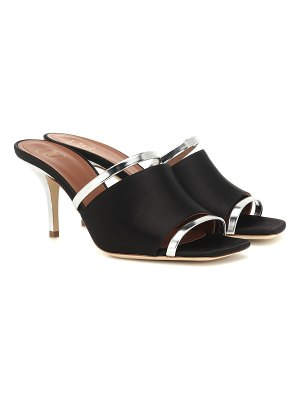 Malone Souliers laney satin and leather sandals