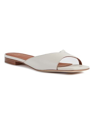 Malone Souliers Leather and Mesh Flat Slide Sandals
