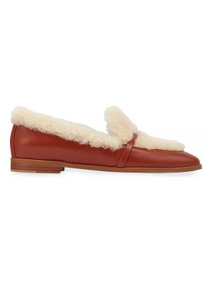 Malone Souliers Lia 2 Shearling Leather Loafers