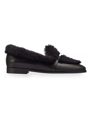 Malone Souliers Lia Shearling Flat Loafers