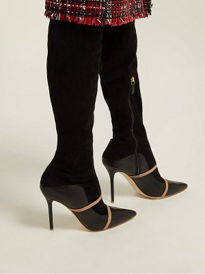Malone Souliers madison over the knee suede boots