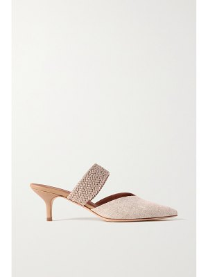 Malone Souliers maisie 45 cord-trimmed linen mules