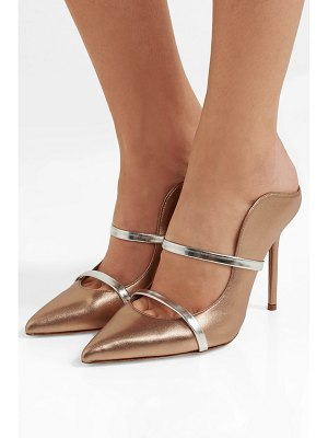 Malone Souliers maureen 100 metallic leather mules