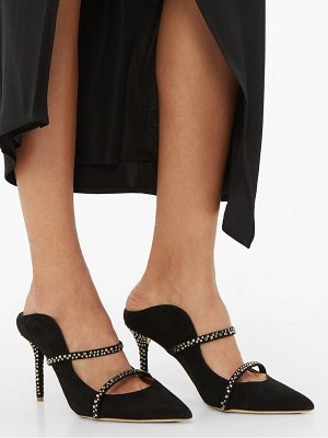 Malone Souliers maureen crystal embellished suede mules