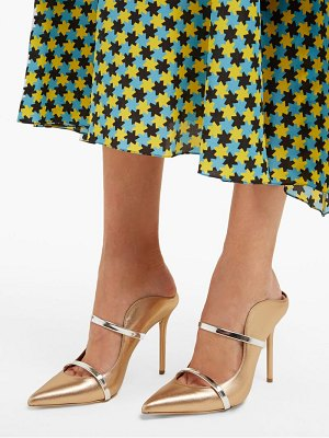 Malone Souliers maureen metallic leather mules