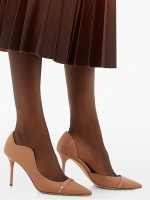 Malone Souliers morrisey waved edge leather pumps