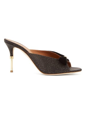 Malone Souliers paige velvet-trimmed satin mules