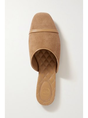 Malone Souliers rene leather-trimmed suede flats
