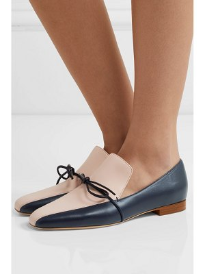 Malone Souliers roksanda celia bow-detailed two-tone leather loafers
