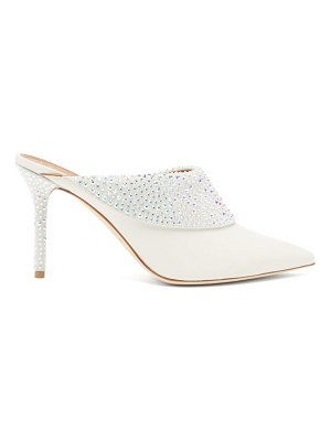 Malone Souliers tilly crystal embellished leather mules