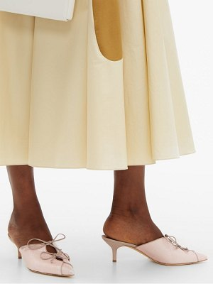 Malone Souliers victoria lace up elaphe mules