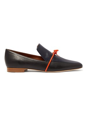 Malone Souliers x roksanda celia navy knotted leather loafers