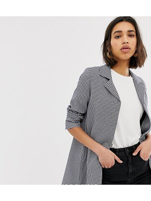 Mango mini houndstooth coat in multi
