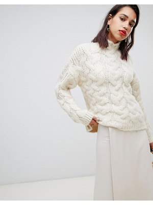 Mango oversized chunky cable knitted sweater
