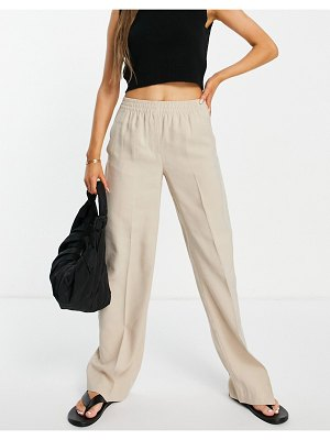 Mango relaxed tailored trouser in dusty gray-grey