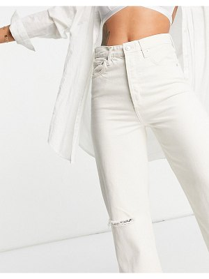 Mango straight jeans in white