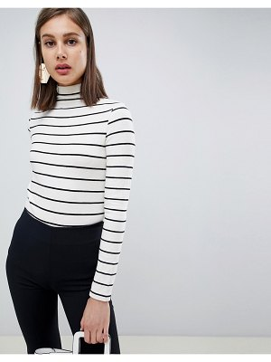 Mango striped high neck long sleeve top