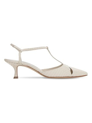 Manolo Blahnik 50mm turgimod embossed leather sandals