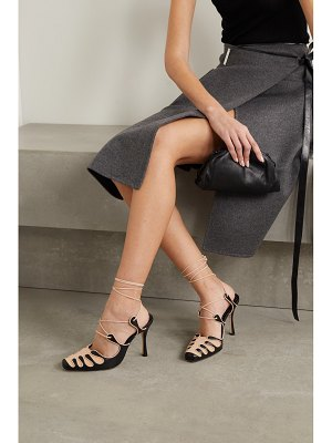 Manolo Blahnik antero leather and suede pumps