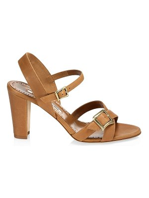 Manolo Blahnik rioso leather sandals