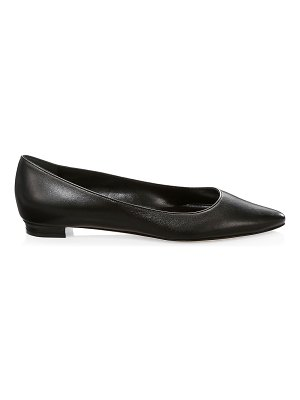 Manolo Blahnik titto leather ballet flats