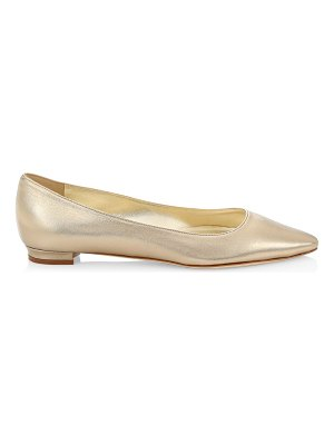 Manolo Blahnik titto metallic leather ballet flats