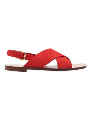 Mansur Gavriel 10mm suede crossover sandals
