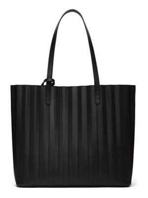 Mansur Gavriel black leather pleated tote bag