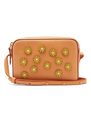 Mansur Gavriel cammello floral embellished leather cross body bag