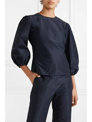 Mansur Gavriel cotton and silk-blend taffeta top