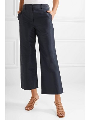 Mansur Gavriel cropped cotton and silk-blend taffeta straight-leg pants