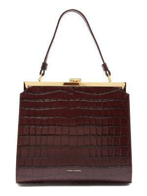 Mansur Gavriel elegant crocodile effect leather clutch bag