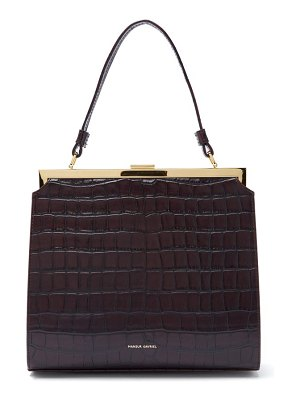 Mansur Gavriel elegant crocodile-embossed leather handbag