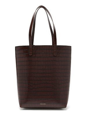 Mansur Gavriel everyday crocodile embossed leather tote bag