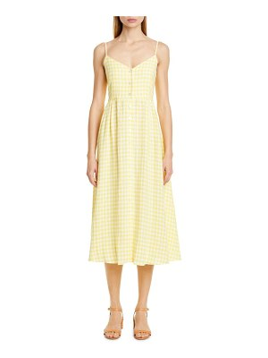 Mansur Gavriel gingham linen midi dress