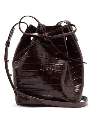 Mansur Gavriel mini crocodile effect leather bucket bag