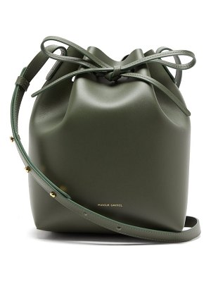 Mansur Gavriel mini leather bucket bag