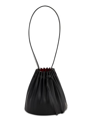 Mansur Gavriel Mini pleated leather bucket bag