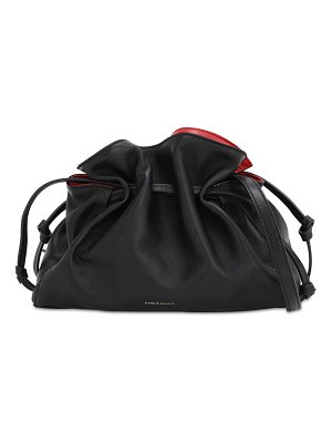 Mansur Gavriel Mini protea leather bucket bag