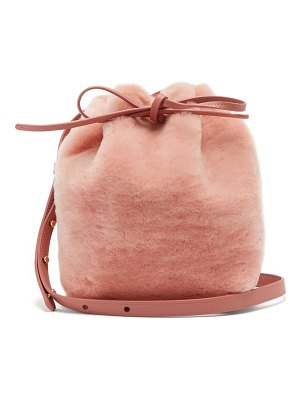 Mansur Gavriel Mini Shearling Bucket Bag