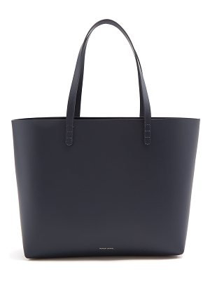 Mansur Gavriel Navy-lined large leather tote bag