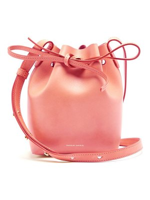 Mansur Gavriel Pink Lined Mini Mini Leather Bucket Bag