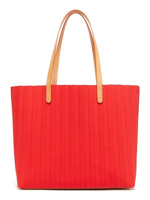 Mansur Gavriel pleated waxed canvas tote bag