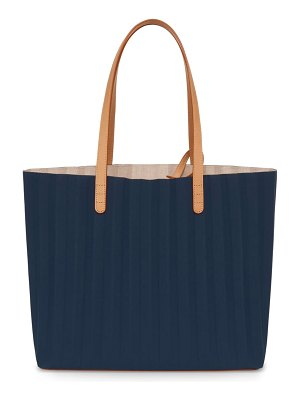 Mansur Gavriel pleated waxed canvas tote