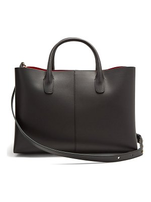 Mansur Gavriel folded red lined leather bag