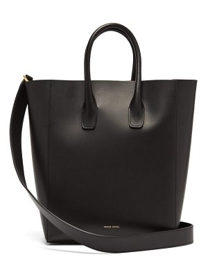 Mansur Gavriel red lined leather tote