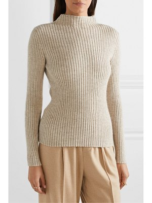 Mansur Gavriel ribbed alpaca and silk-blend turtleneck sweater