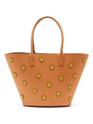 Mansur Gavriel sunflower embellished leather tote bag